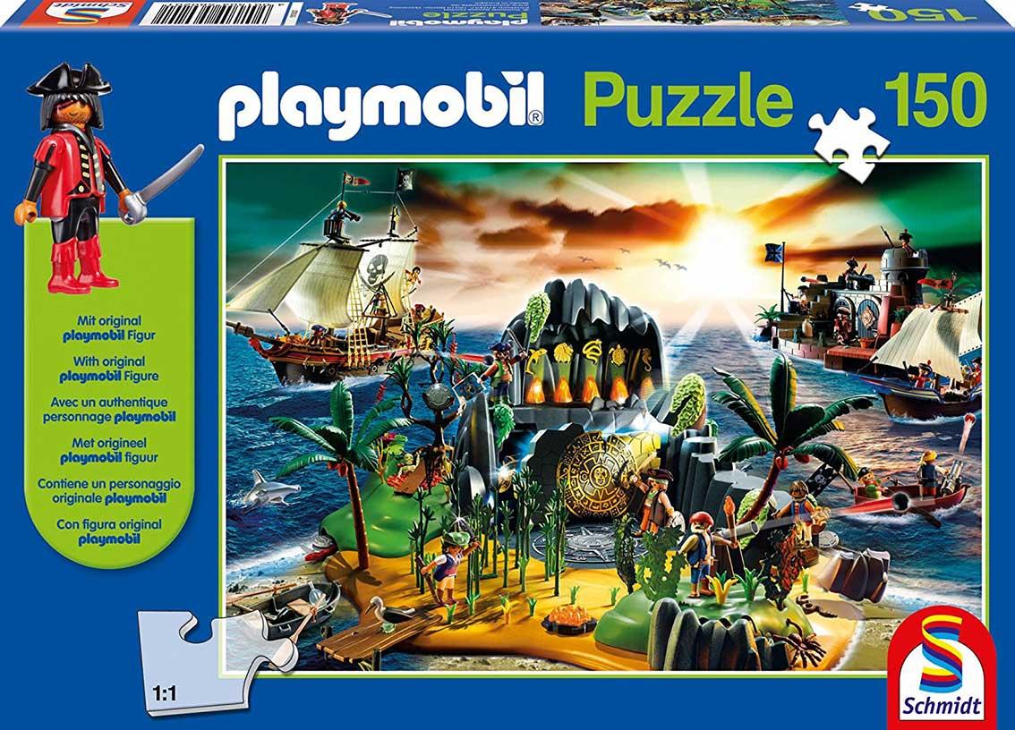 Puzzle Schmidt Isla de los Piratas de Playmobil de 150 Piezas