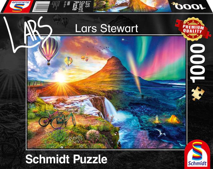 Puzzle Schmidt Islandia, Día y Noche de 1000 Piezas