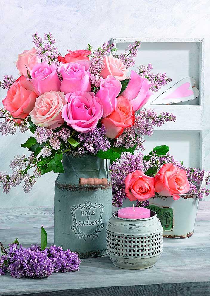 Puzzle Schmidt Jardín con Rosas de 1000 Piezas