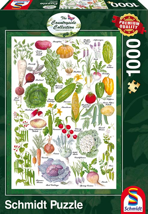 Puzzle Schmidt Jardín Vegetal de 1000 Piezas