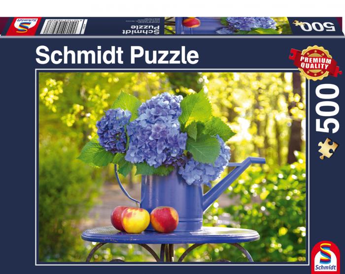 Puzzle Schmidt Jarra de Hortensias de 500 Piezas