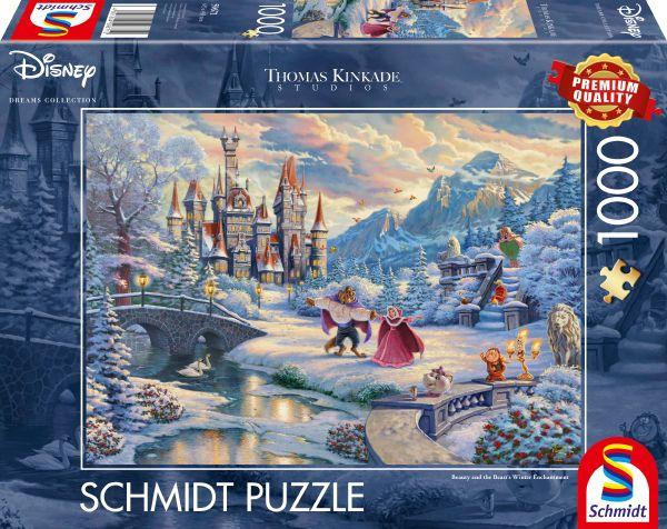 Puzzle Schmidt La Bella y La Bestia Edición Navidad de 1000 Pzs