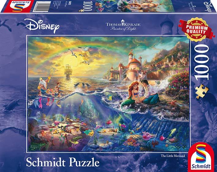 Puzzle Schmidt Disney La Sirenita, Ariel de 1000 Piezas