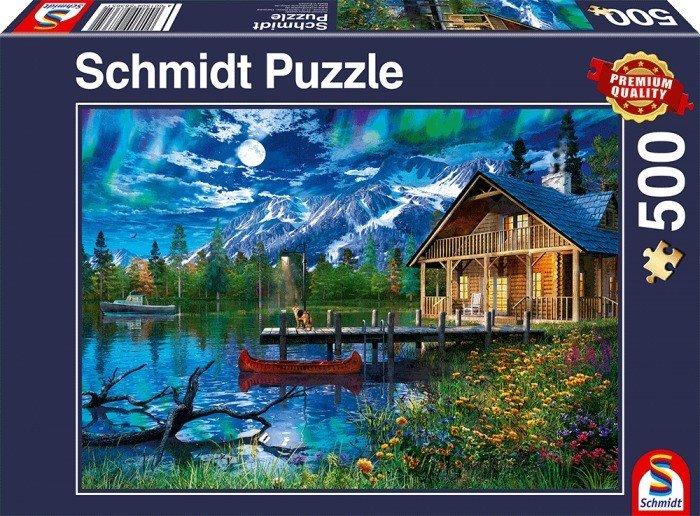 Puzzle Schmidt Lago a la Luz de la Luna de 500 Piezas