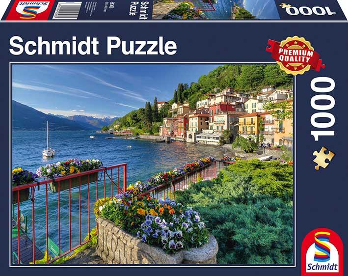 Puzzle Schmidt  Lago Como, Italia de 1000 Piezas