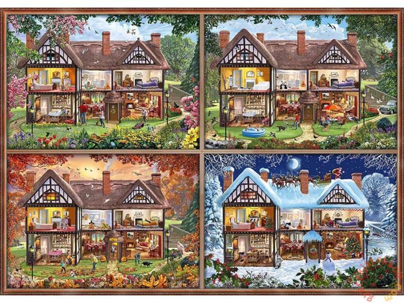 Puzzle Schmidt Las Cuatro Estaciones de mi Casa de 2000 Piezas
