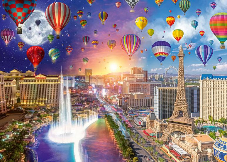Puzzle Schmidt Las Vegas, Día y Noche de 1000 Piezas