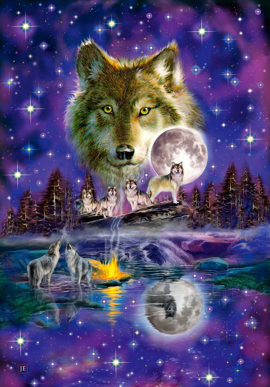 Puzzle Schmidt Lobo en la Noche de 1000 Piezas