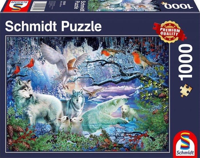 Puzzle Schmidt Lobos en el Bosque en Invierno de 1000 Piezas