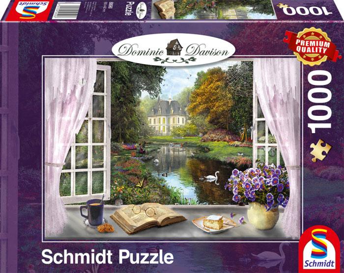 Puzzle Schmidt Los Jardines del Castillo de 1000 Piezas