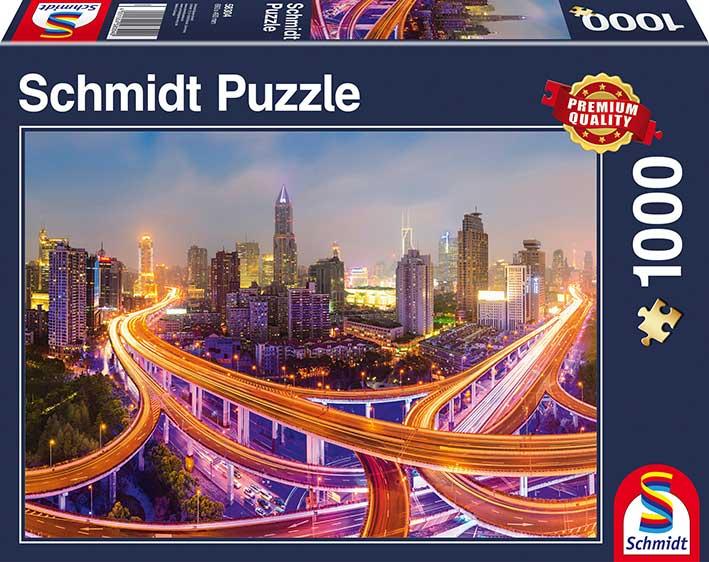 Puzzle Schmidt  Luces de la Gran Ciudad de 1000 Piezas