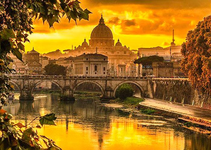 Puzzle Schmidt Luz Dorada Sobre Roma de 1000 Piezas