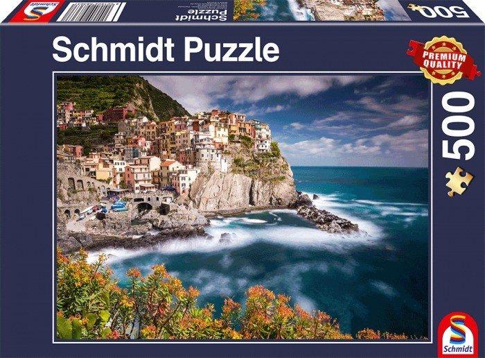 Puzzle Schmidt Manarola, Cinque Terre de 500 Piezas