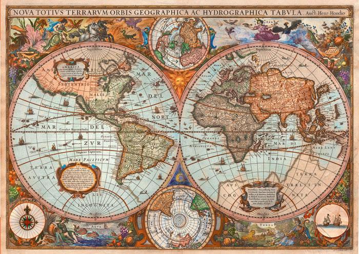 Puzzle Schmidt Mapa Antiguo de 3000 Piezas