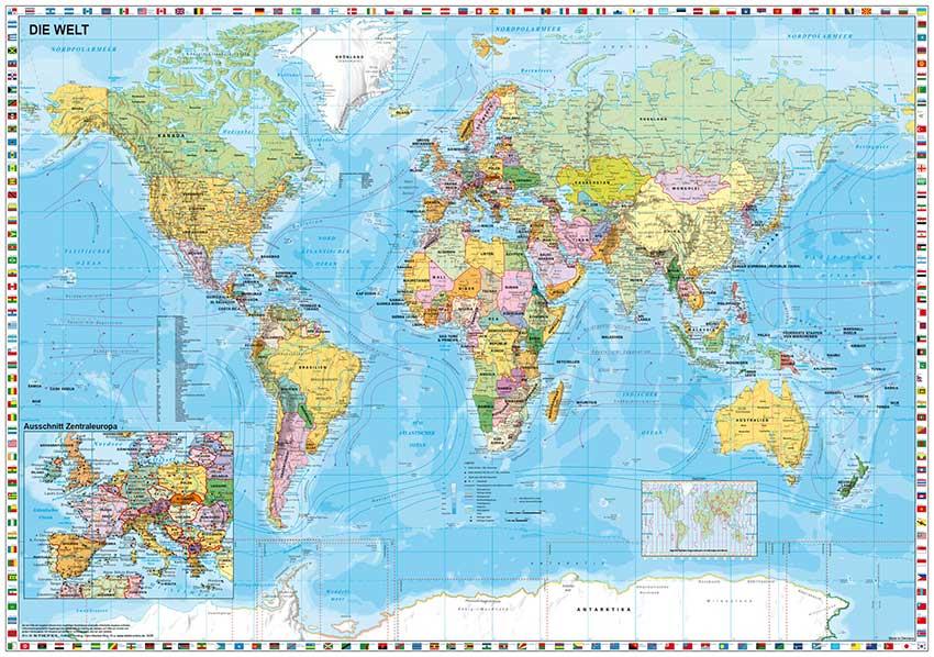Puzzle Schmidt Mapa del Mundo de 1500 Piezas