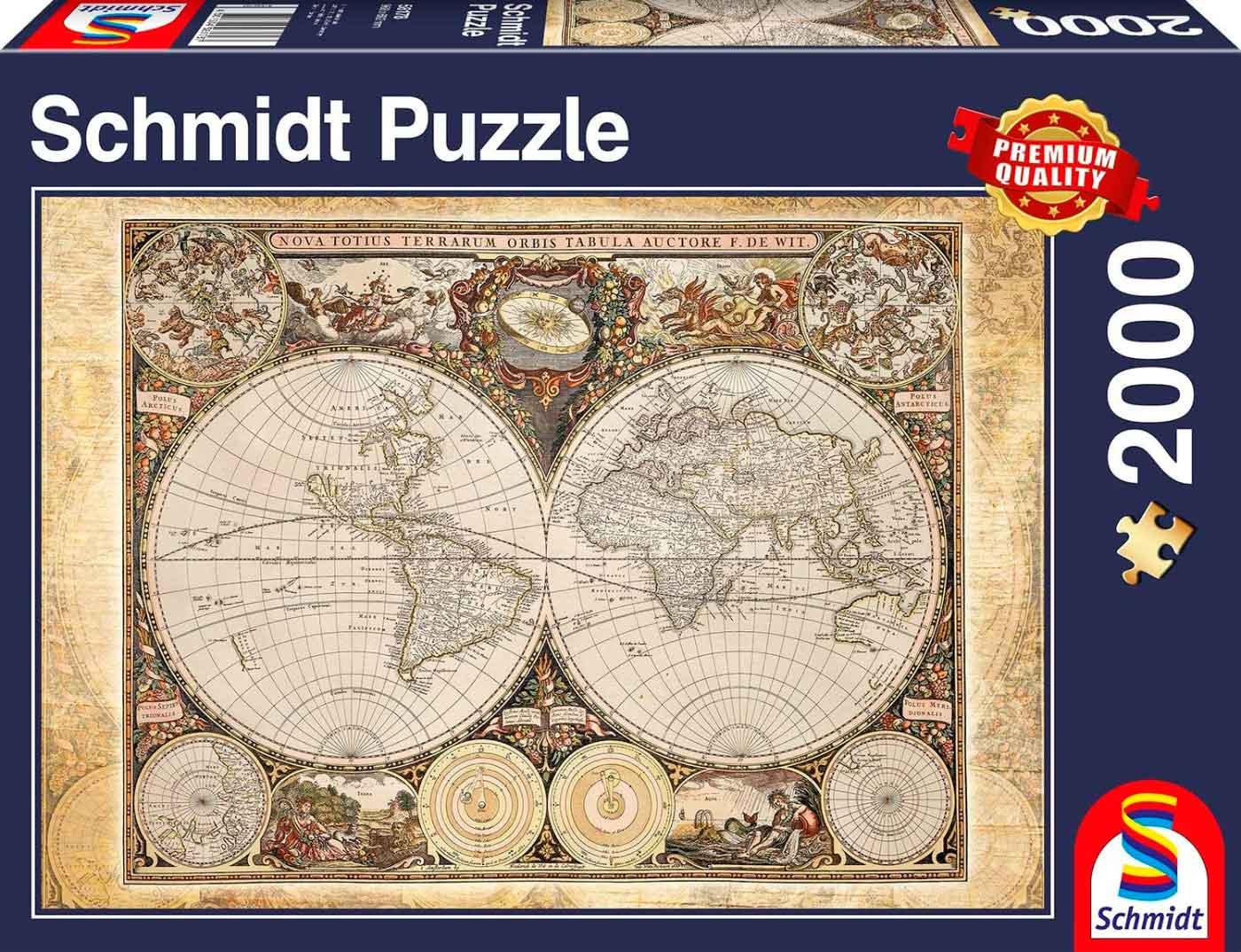 Puzzle Schmidt Mapamundi Histórico de 2000 Piezas