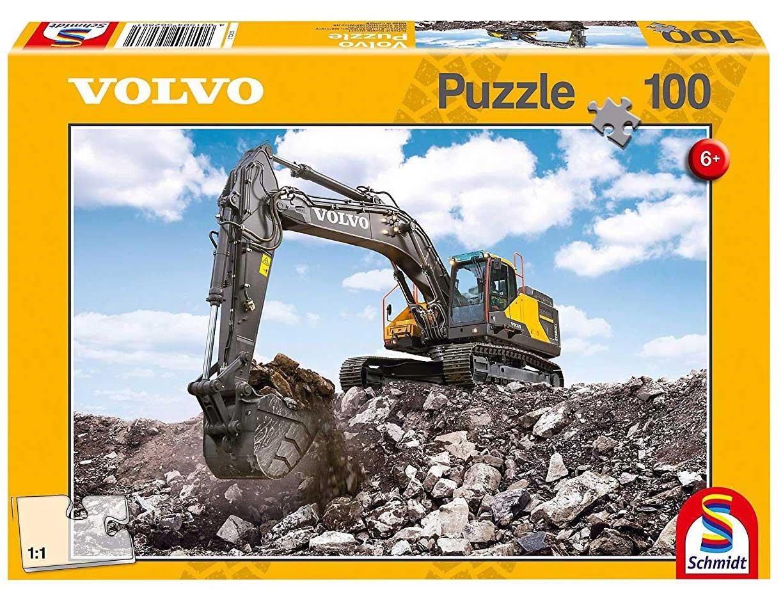 Puzzle Schmidt Máquina Escavadora Volvo EC380E de 100 Piezas