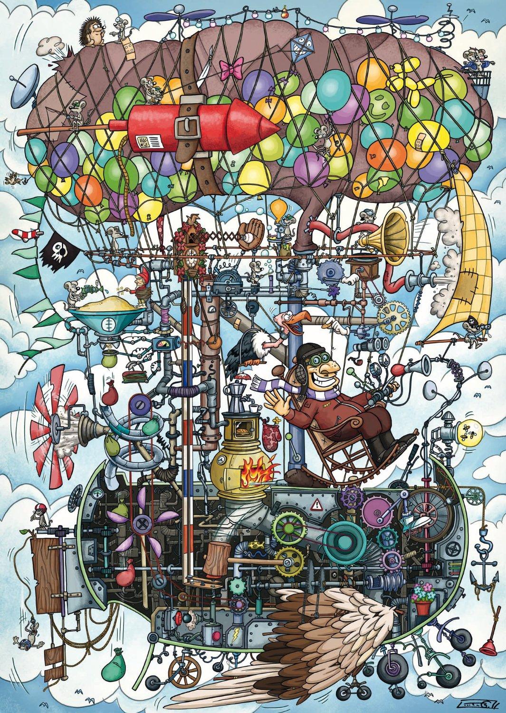 Puzzle Schmidt Máquina Voladora de 1000 Piezas