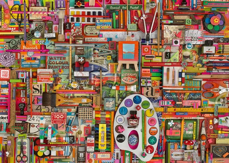 Puzzle Schmidt Materiales de Artista Vintage de 1000 Piezas