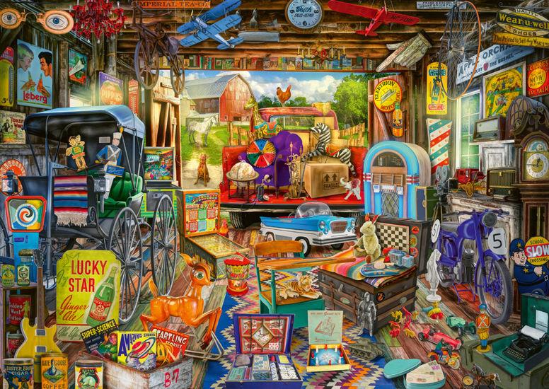 Puzzle Schmidt Mercadillo en el Garaje de 500 Piezas