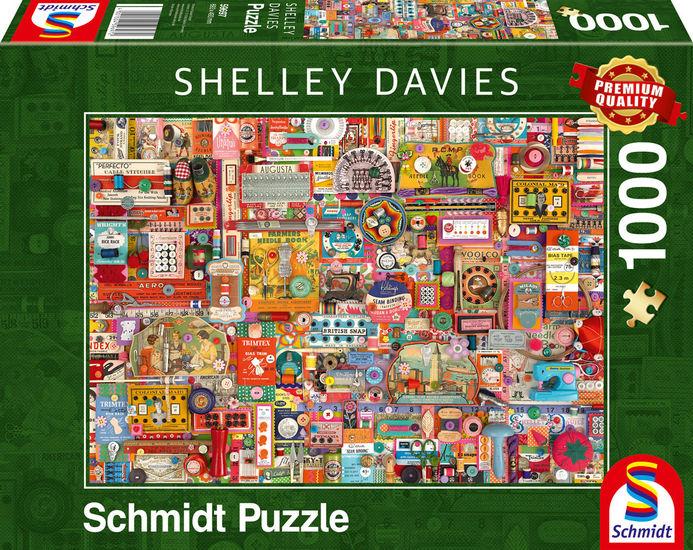 Puzzle Schmidt Mercería Vintage de 1000 Piezas