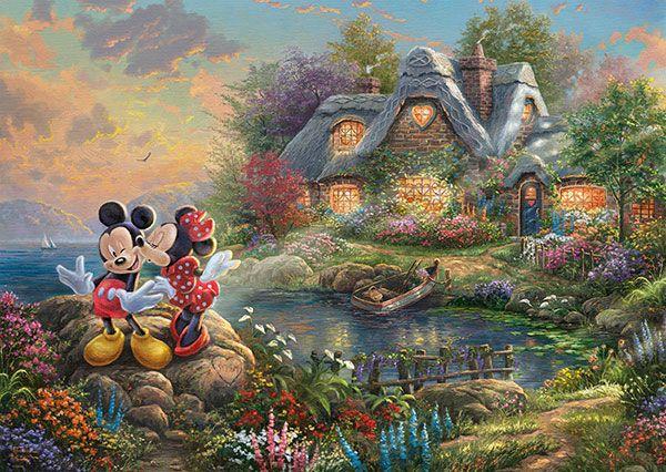 Puzzle Schmidt Mickey y MInnie Cala del Amor de 1000 Piezas