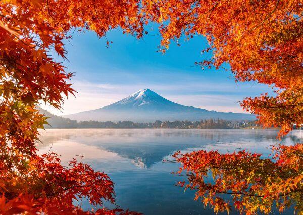 Puzzle Schmidt Monte Fuji en Otoño de 1000 Piezas