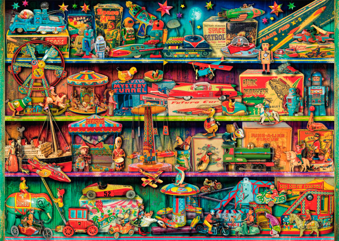 Puzzle Schmidt Mundo Mágico de Juguetes de 1000 Piezas