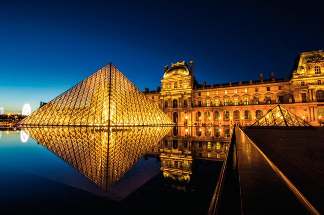 Puzzle Schmidt Museo del Louvre de Noche de 1000 Piezas