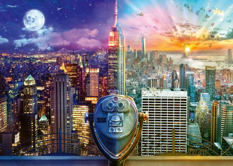 Puzzle Schmidt Nueva York, Día y Noche de 1000 Piezas