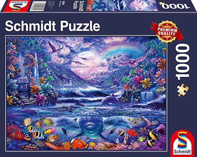Puzzle Schmidt Oasis a la Luz de la Luna de 1000 Piezas