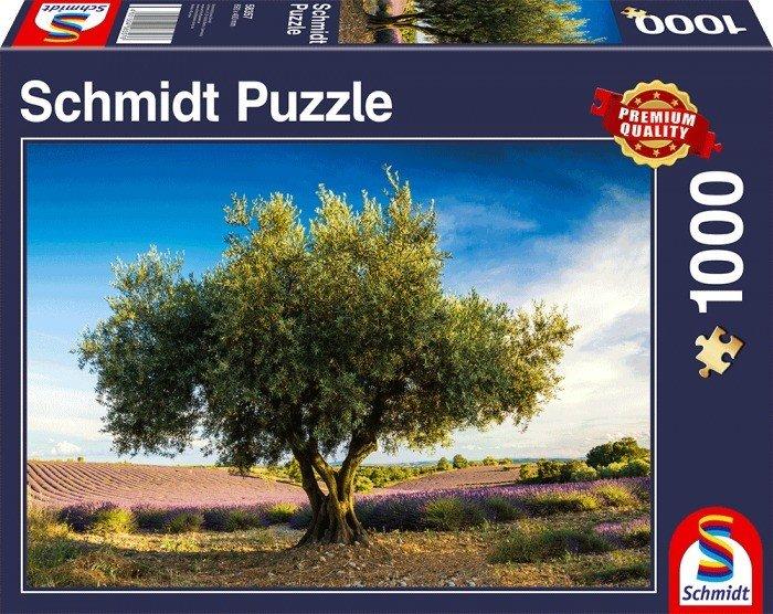 Puzzle Schmidt Olivo en la Provenza de 1000 Piezas