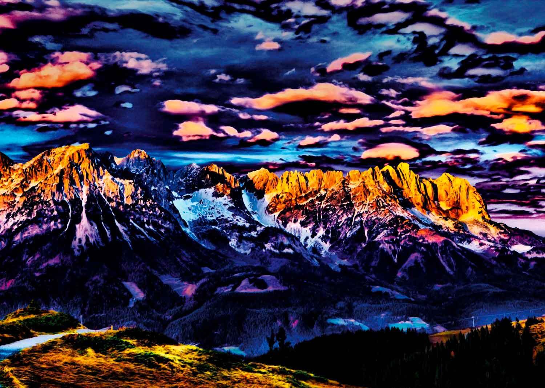 Puzzle Schmidt Paisaje Montañoso de 1000 Piezas