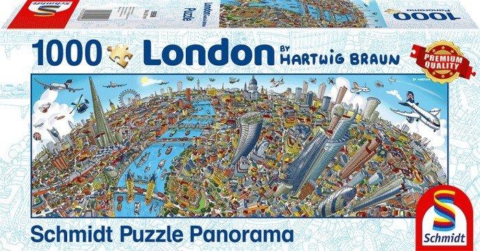Puzzle Schmidt Panorama de Londres de 1000 piezas
