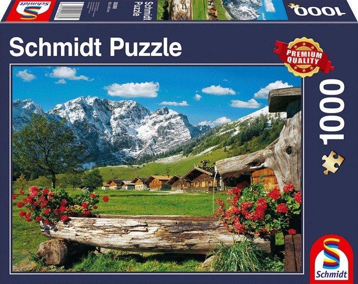 Puzzle Schmidt Paraiso en la Montaña de 1000 Piezas