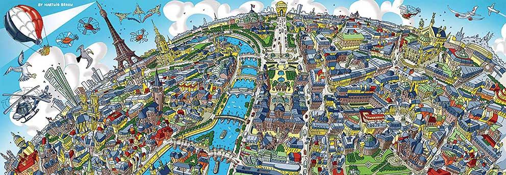 Puzzle Schmidt Panorama de París de 1000 piezas