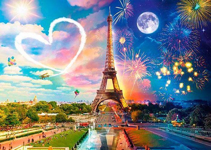 Puzzle Schmidt París Día y Noche de 2000 Piezas