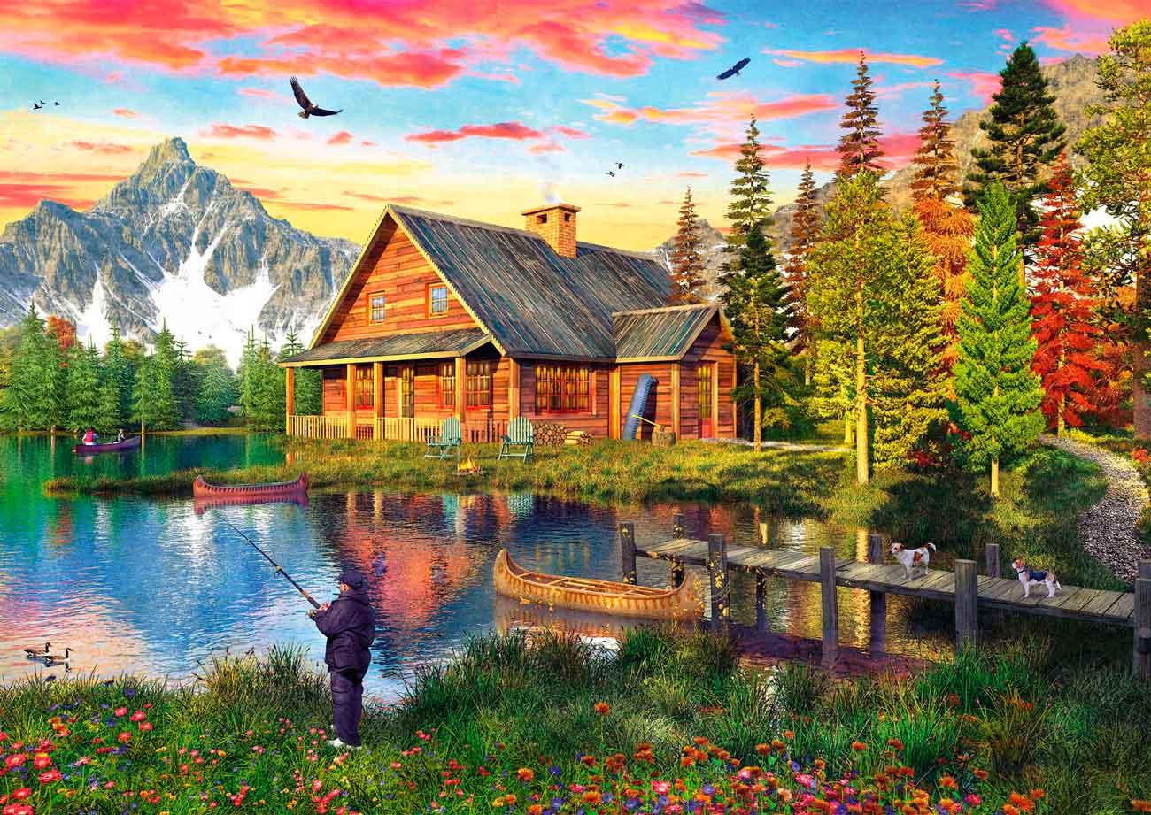Puzzle Schmidt Pesca en el Lago de 500 Piezas