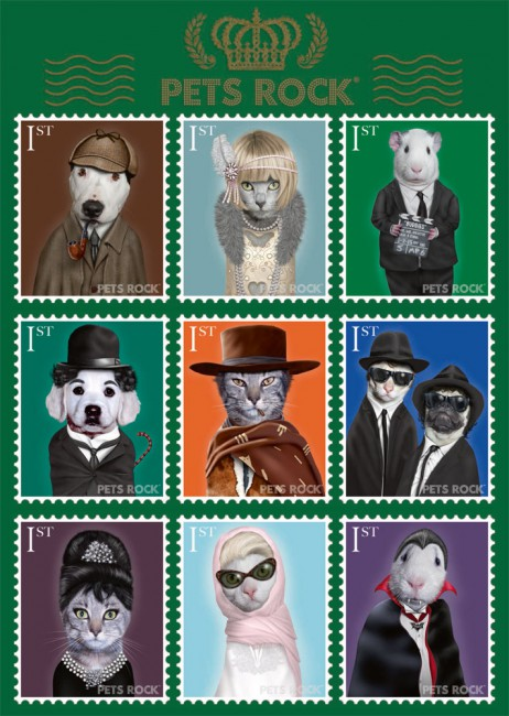 Puzzle Schmidt Pets Rock, Artístas de Cine de 1000 Piezas