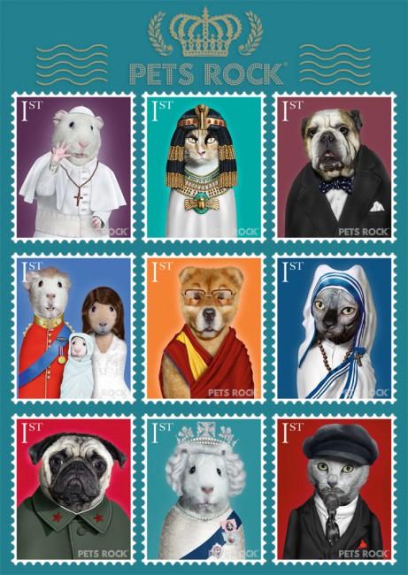 Puzzle Schmidt Pets Rock, Personajes Históricos 1000 Piezas