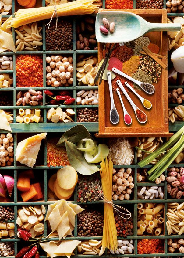Puzzle Schmidt Popurri de Cocina de 1000 Piezas