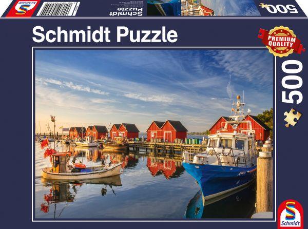 Puzzle Schmidt Puerto Pesquero de Weisse Wiek de 500 Piezas
