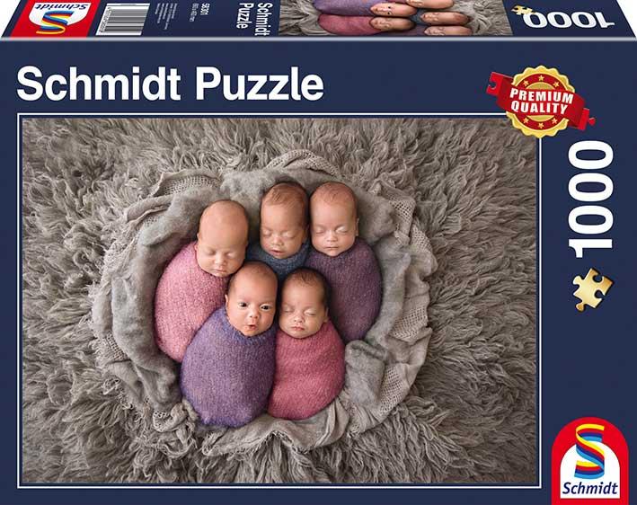 Puzzle Schmidt  Quintillizos de 1000 Piezas