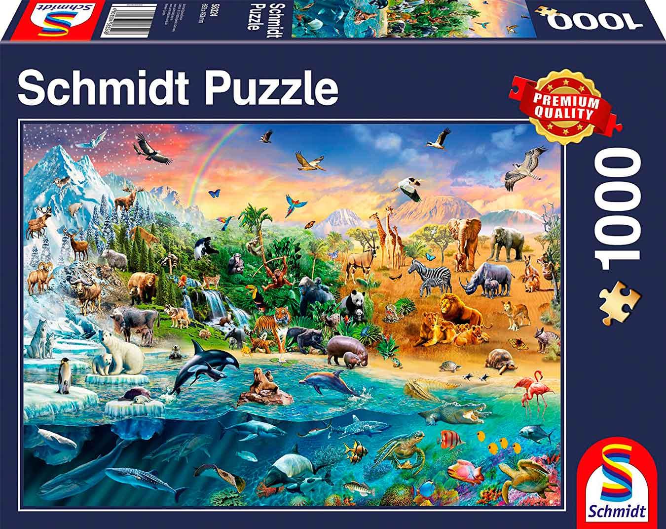 Puzzle Schmidt Reino Animal de 1000 Piezas