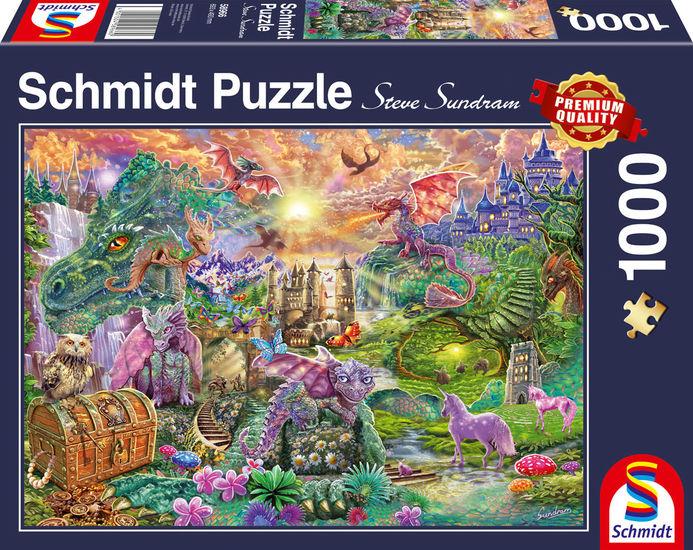 Puzzle Schmidt Reino de los Dragones Encantado de 1000 Pzs