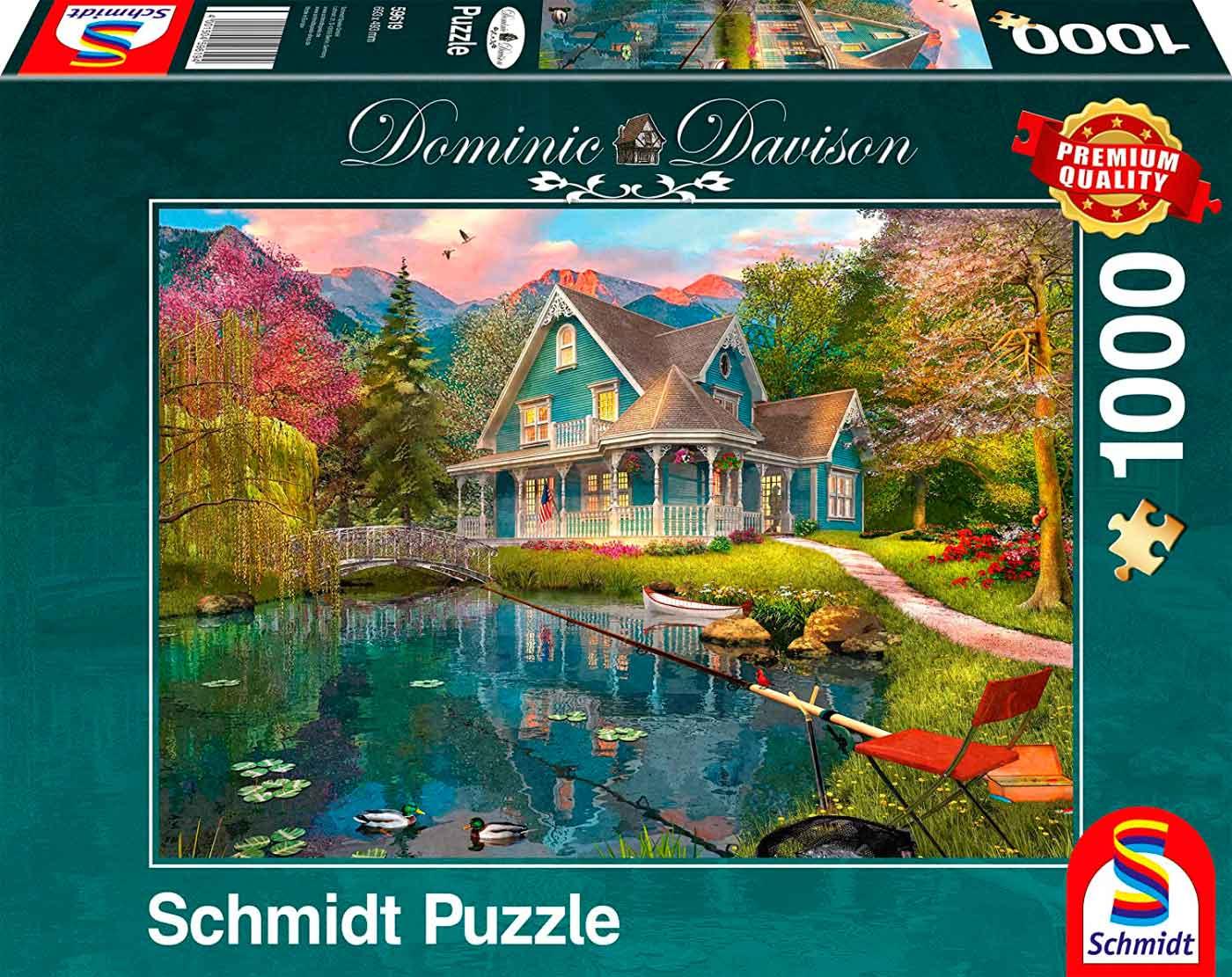 Puzzle Schmidt Retiro Junto Al Lago de 1000 Piezas