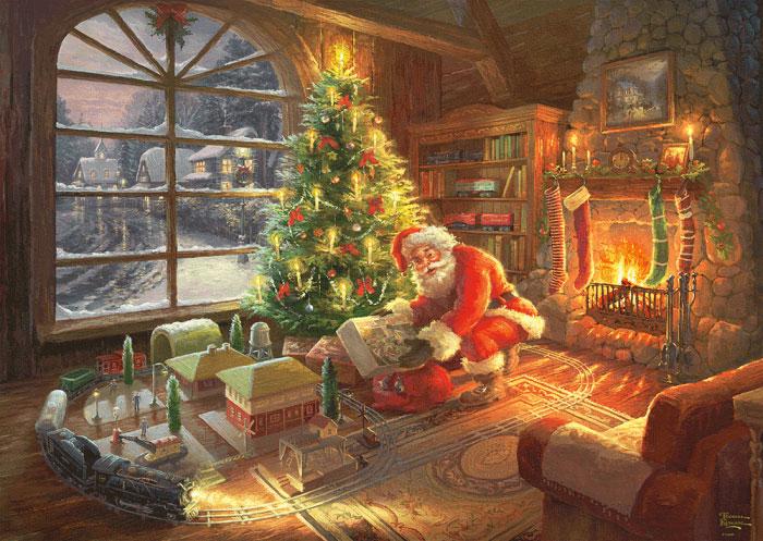 Puzzle Schmidt Santa Claus ha Llegado de 1000 Piezas