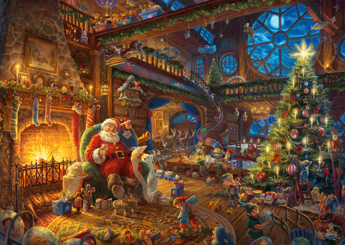 Puzzle Schmidt Santa Claus y sus Elfos de 1000 Piezas