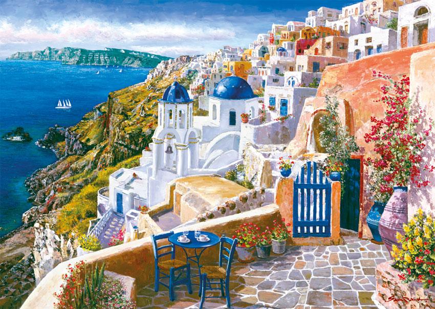 Sam Park, Puzzle Schmidt Santorini, Grecia de 1000 Piezas