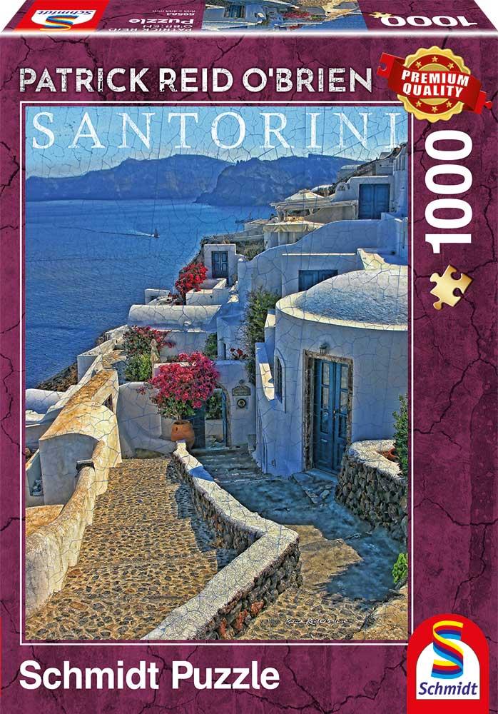 Puzzle Schmidt Santorini, Grecia de 1000 Piezas